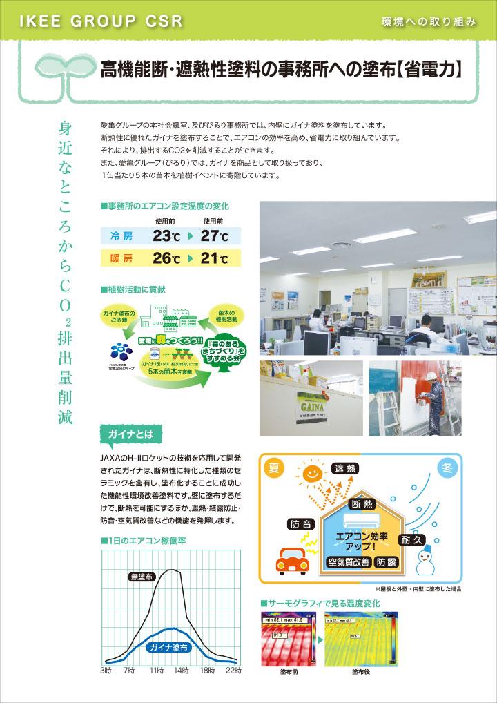 高機能断・遮熱性塗料の事務所への塗布【省電力】