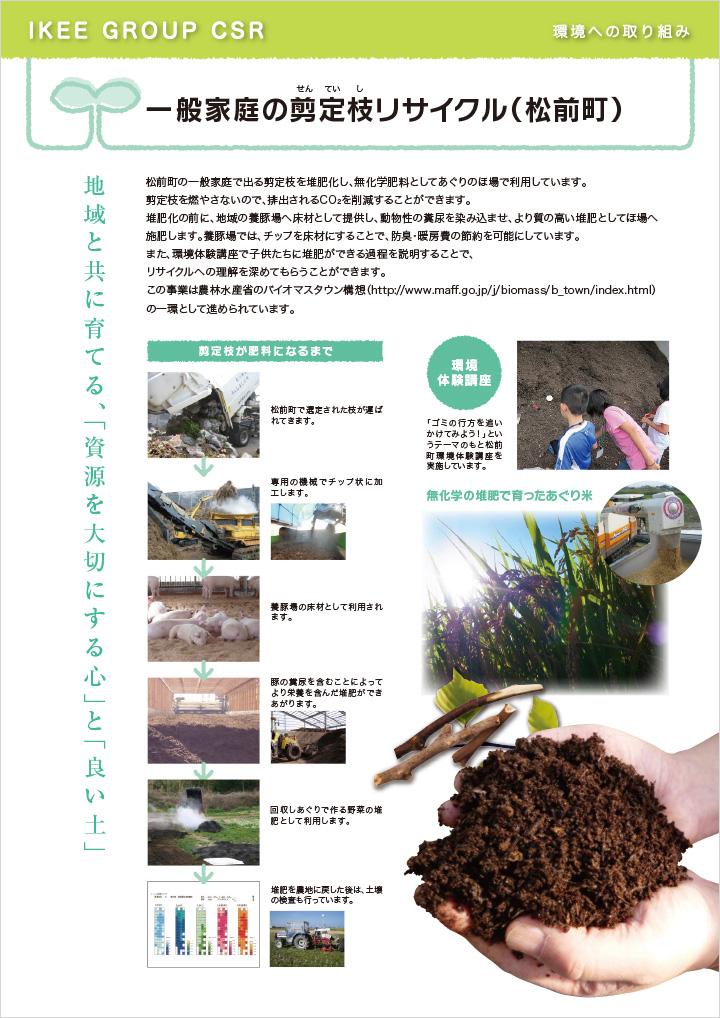 一般家庭の剪定枝リサイクル(松前町)
