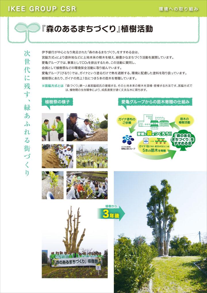 『森のあるまちづくり』植樹活動